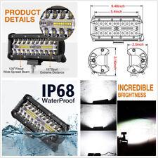 Universal 6'' 6000K Autos Driving Light LED Work Light Spot Flood Fog Lamp 120W
