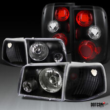 1993-1997 Ford Ranger Black Projector Headlights+Corner Signal Lamps+Tail Lights