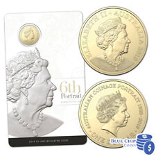 2019 UNC $1 Queen Elizabeth II 6th Portrait Double Header $1 Coin on Card