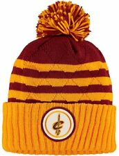 Cleveland Cavaliers Mitchell Ness NBA Quilted Stripe Cuff Beanie Knit Cap Hat