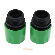 2x Garden 3/4'' Hose Plastic Quick Connect Tap Adapter Thread Connector Adapter