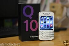 New Imported BlackBerry Q10 16GB 4G LTE WHITE GOLD NEW