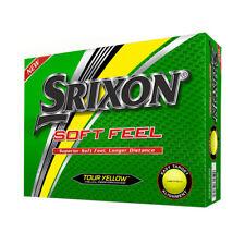 2018 Srixon Soft Feel Golf Balls Tour Yellow STRAIGHTER & LONGER - 1 Dozen