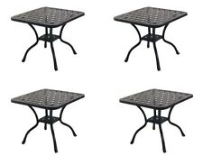 "Patio 21"" Square End Table Nassau set of 4 Cast Aluminum Pool Side Furniture"