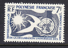 French Polynesia 1963  - 7f Human Rights #31 FU
