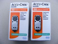 ACCU CHEK Mobile  2 Testkassetten mit je 50  Messungen