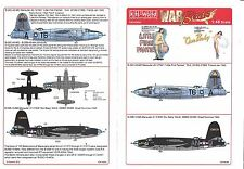 KitsWorld B-26B/C Marauder Decals 1/48 084 Cool Nose/Gal Art, 2 Options  DO
