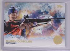 SUPER RARE 2014 TOPPS OLYMPIC SUSAN DUNKLEE GOLD RAINBOW CARD #27 ~ BIATHLON