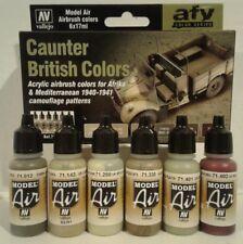 Vallejo acrylic paint set 71.211, Caunter British colors