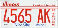 DANIEL STERN SIGNED AUTO 'HOME ALONE' LICENSE PLATE MARV BECKETT BAS COA 17