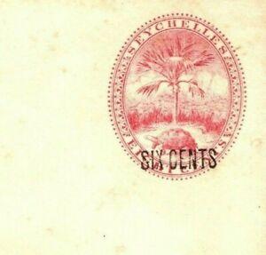 SEYCHELLES Unused Postal Stationery Envelope *Six Cents* Surcharge HG.B5 PB376