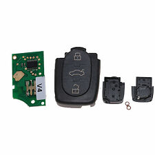 Klappschlüssel für Audi Sendeeinheit Oval 3 T. ersetzt 4D0837231A 433,92Mhz A02