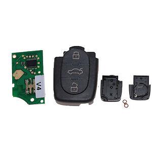 Für Audi Key Klappschlüssel Sendeeinheit 3 T. 433,92Mhz ersetzt 4D0837231A A02