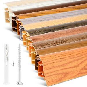 2 Meter Sockelleiste 62mm PVC Eiche Anden Laminatleisten Fussleisten aus Kunststoff PVC Laminat Dekore Fu/ßleisten DQ-PP