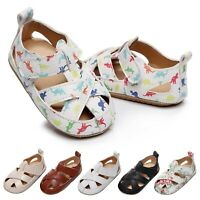 Toddlers Kids Baby Girls Boys Summer Flat Cute Soft-soled Casual Beach Sandals