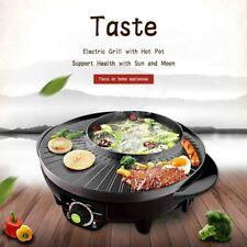 LIVEN Electric Shabu Shabu Pot Hot Pot Barbecue Grill Non-Stick Electric Skillet
