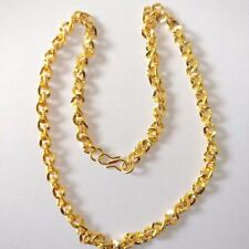 """Traditional South Indian 16"""" Unisex 22k Gold Plated handmade Collar Neck Chain"""