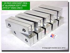 "(10 PACK) 6 x 2.5 x 1"" Standard Aluminum Soft Jaws Set Fits Kurt Chick 6"" Vises"