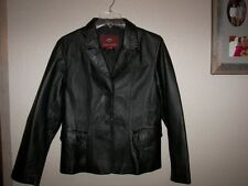 Women's Marc Mattis Black Leather  Jacket - L