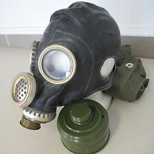 Russian Soviet Rubber Military Gaz Mask sz M original bag filter 1979 Ма�ка Газ