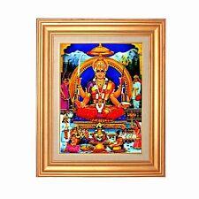 Gold Leaf Frame 10x13 inch Religious Hindu Santoshi Maa Mata #HDL-01-PI-FR-COMO#