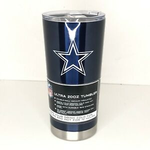 Dallas Cowboys Tumbler Ultra 20 oz Travel Stainless Steel Hot Cold