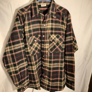 Vintage Five Brother Large Heavy Flannel Shirt