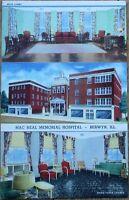 Berwyn, IL 1940s Linen Postcard: Mac Neal Memorial Hospital - Illinois Ill