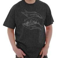 Mountain Hand Spiritual Symbolic Natural Short Sleeve T-Shirt Tees Tshirts