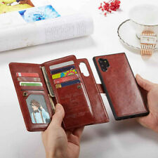 9 Card slot Leather Flip Wallet Case Cover For Samsung Galaxy Note 10 S20 Ultra