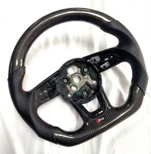 Real Carbon Fiber Flat Sport Steering Wheel for AudiS3 S4 S5 RS3 RS4 RS5 2016-21
