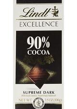 LINDT EXCELLENCE SUPREME DARK 90% COCAO CHOCOLATE BAR 100g 3.5 OZ
