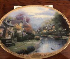 "Thomas Kinkade ""Lamplight Brooke"" Collector Plate Bradford Exchange"