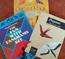 2 VTG ORIGAMI & 1 TANGRAM PUZZLE INTERACTIVE CHILDREN PLAY ART HOW TO BOOKS