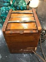 Antique Burke & James Wood Contact Film Viewer