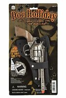 DOC Holliday Toy Cap Gun Pistol Revolver Cowboy Western Holster/Belt New
