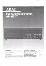 AKAI manuale di istruzioni user manual operatore'S MANUAL PER AP-M 77t