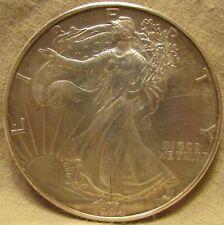 1994 WALKING LIBERTY EAGLE FINE SILVER DOLLAR,  .999 TROY OUNCE, MINOR WEAR