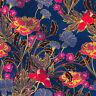 Verkauft 1 Yard Stoff Baumwolle Kleidung Blumendruck zum Nähen Quilten  Craft 44