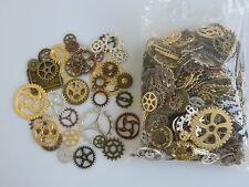 50pcs Mixed Steampunk Cogs and Gears Clock Hand Charms Silver Bronze Gold Copper