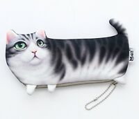 Cat Pet Fluffy Quality Toy Novelty Cute Pencil Case Cosmetic Pouch Coins Bag