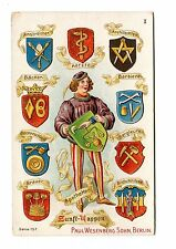 Victorian Trade Card PAUL WESENBERG SOHN Chocolatier Berlin guild shields