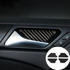 Carbon Fiber Door Handle Bowl Cover Trim Fit For Volkswagen Golf 6 MK6 GTI 08-12
