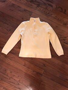 Bobby Jones Women's  Golf Jacket/ pullover  1/2 Zip Size M Yellow