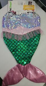 New Pet Shoppe Mermaid Costume for Dogs Pets Pooch Sequins Tulle Glitter M/L🐕🐶