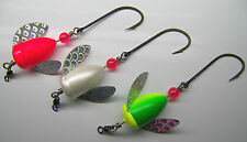 SPIN N GLO LOT 3 SPINNER LURE BLUEFISH BASS BIG TROUT SALMON  ALASKA WORDEN'S
