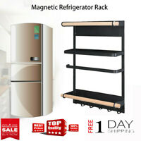 Kitchen Rack Magnetic Refrigerator Storage Rack Heavy Duty Fridge Organizer USA