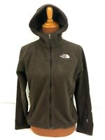 The North Face Windwall Hoodie Jacket Womens Small S Full Zip Brown Fleece