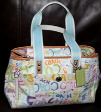Coach Hamptons MultiI-Color Weekend Graffiti Tote F13566 Handbag