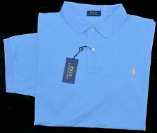 New Large L POLO RALPH LAUREN Mens shirt short sleeve light blue top Classic Fit